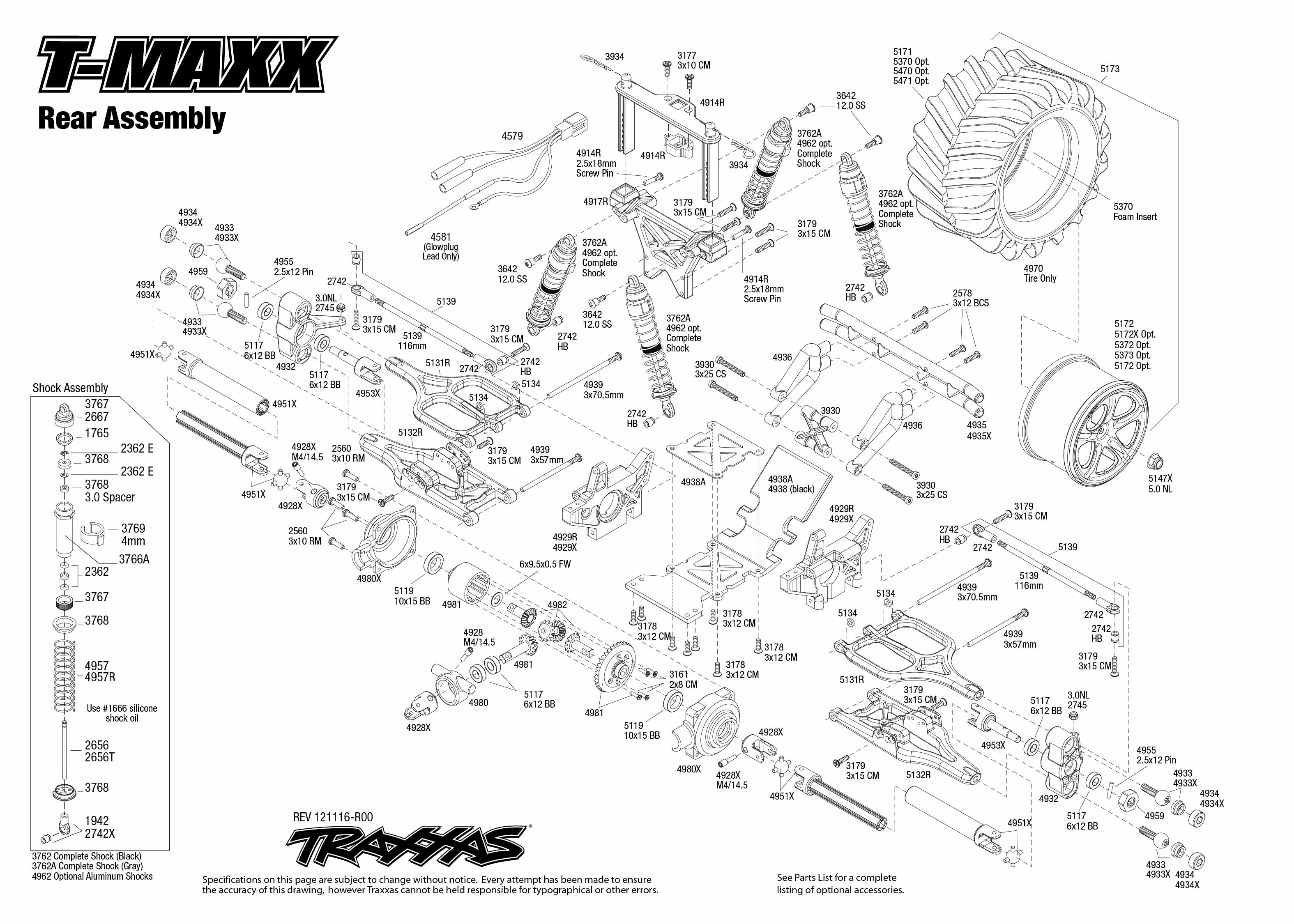 traxxas 1  10 scale t-maxx 4wd monster truck