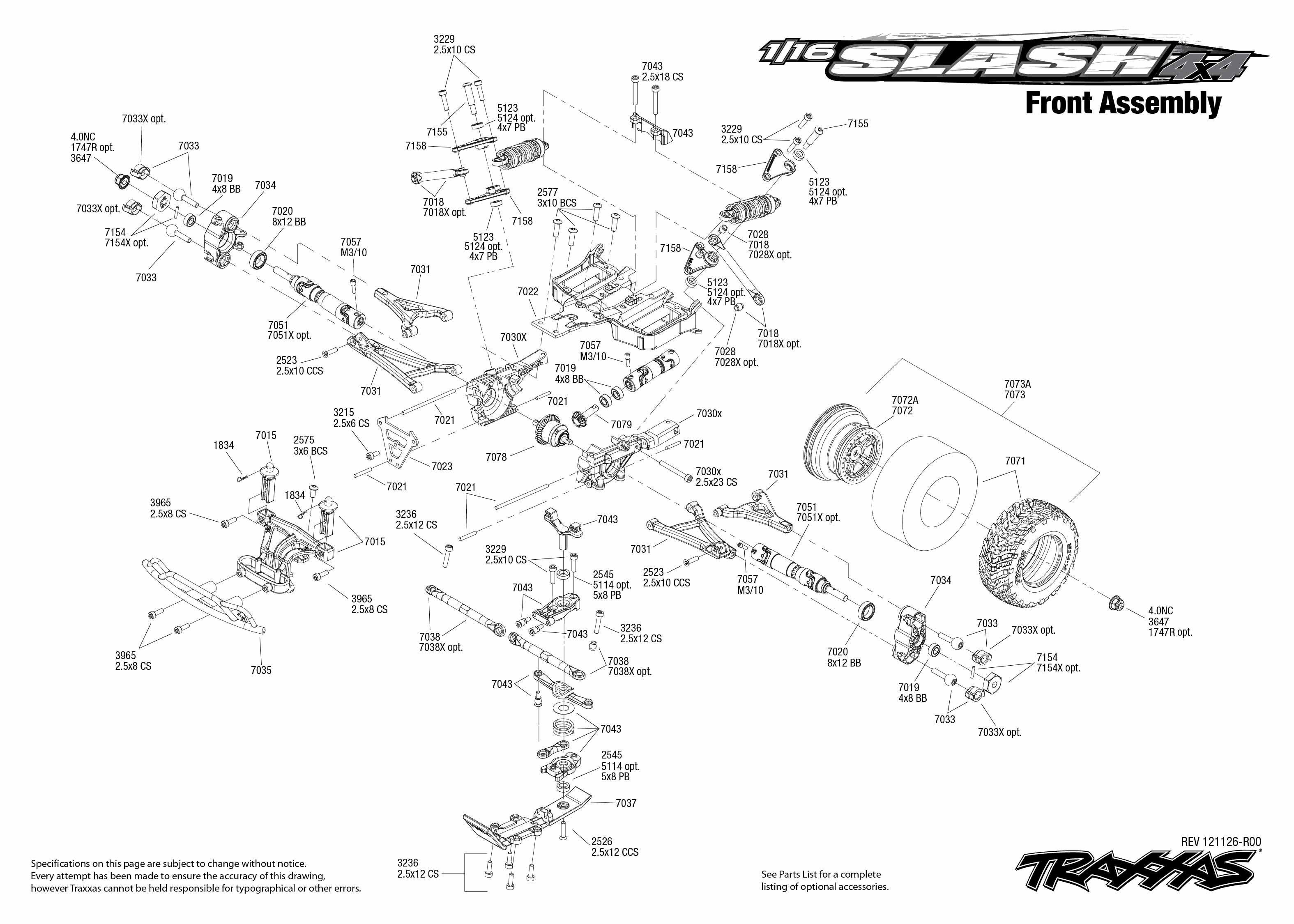 traxxas slash 4x4 parts diagram html
