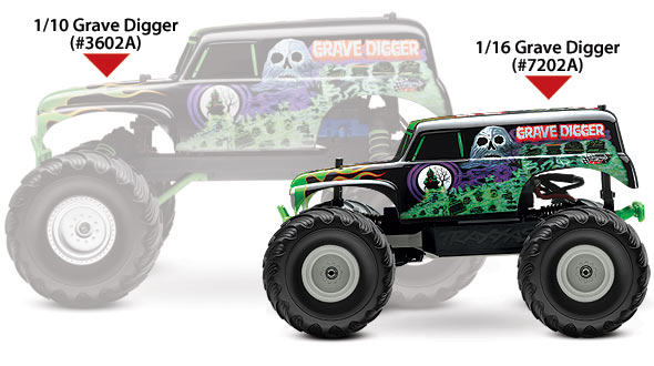Customize A Truck Virtually >> Traxxas 1/16 Scale Grave Digger 2WD Monster Jam Replica Monster Truck - 72024