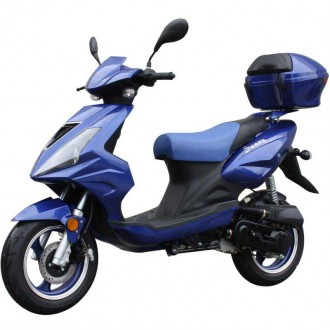50cc Bigger Body Gas Motor Scooter With Trunk Windshield