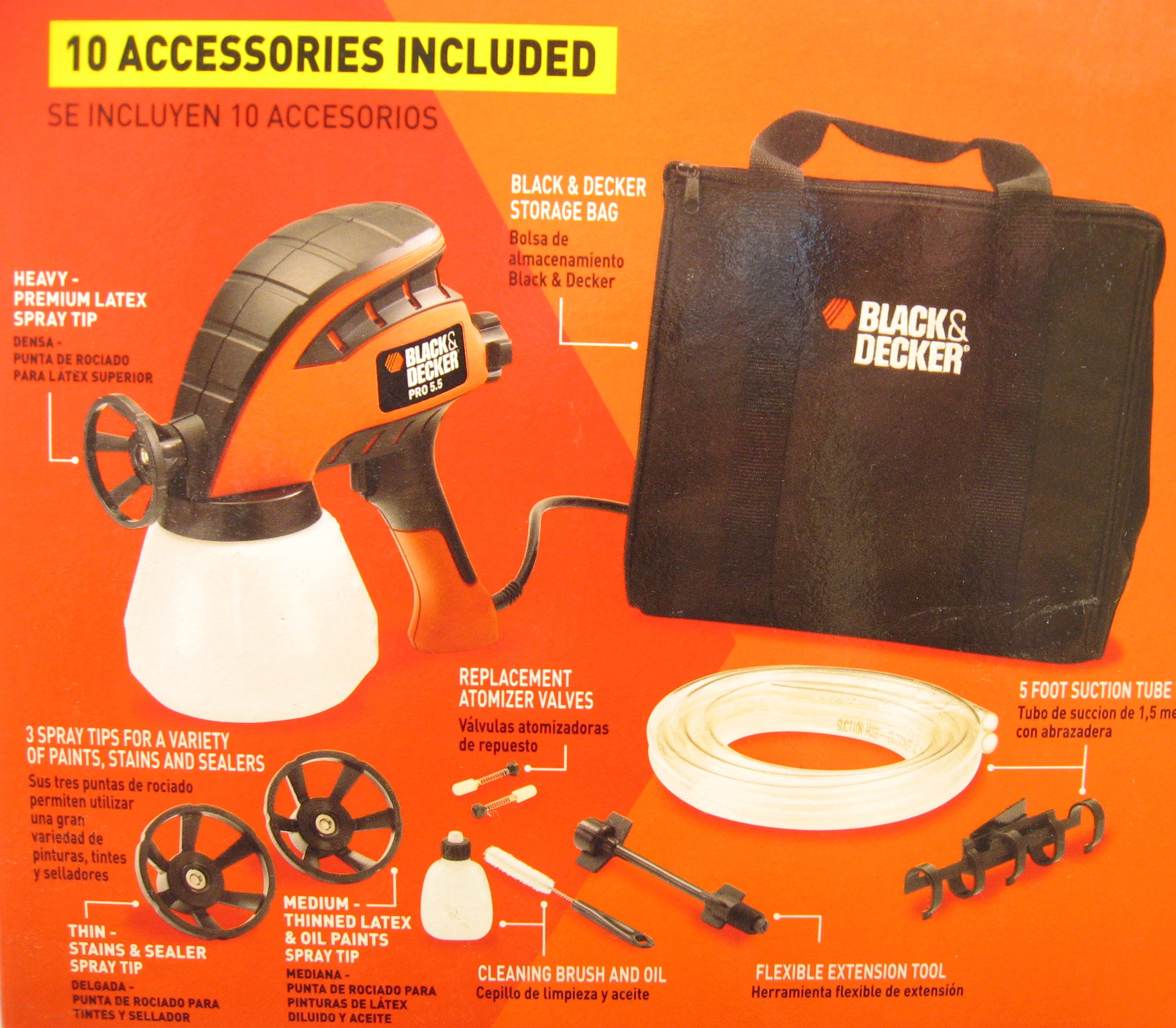 Black & Decker Pro 5.5 Paint Sprayer Back of Box