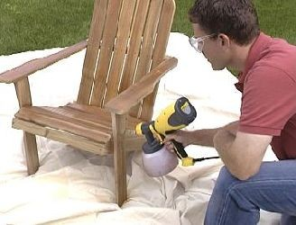 Spraying Chair with Control Spray