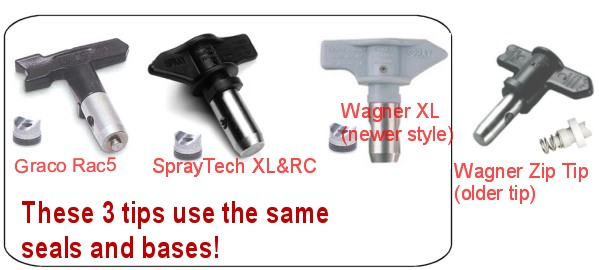 Sray Tips Wagner, SprayTech, Graco