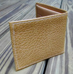Natural Leather Wallet Interior