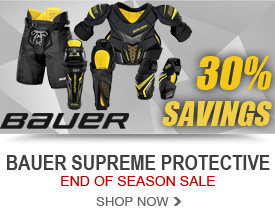 Bauer Supreme Protective Markdowns - 30% Off Retail Prices!
