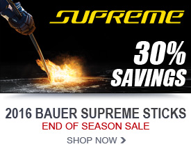 30% Savings on Bauer Supreme Hockey Sticks