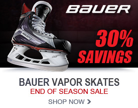 30% Savings on Bauer Vapor Ice Hockey Skates