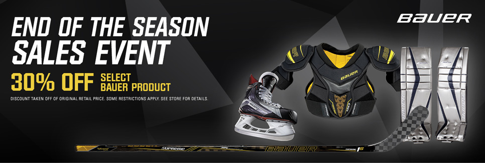 End of Season Sale - 30% Off Select Bauer Equipment