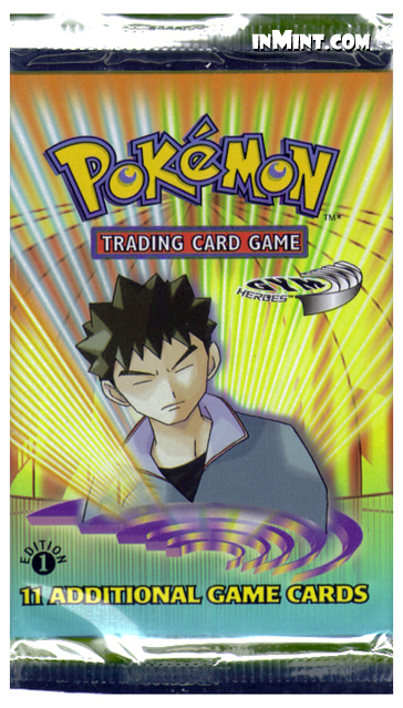 Pokemon: Gym Heroes Booster Pack (11 cards) (1st Edition)