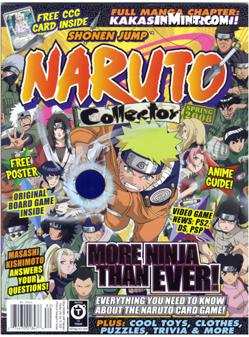 inmintcom naruto collector spring 2008 112 pages