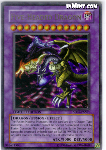 Only  3 95 Flat Rate Shipping or FREE SHIPPING w   35 minimum purchase    Yugioh Fusion Dragon Monsters