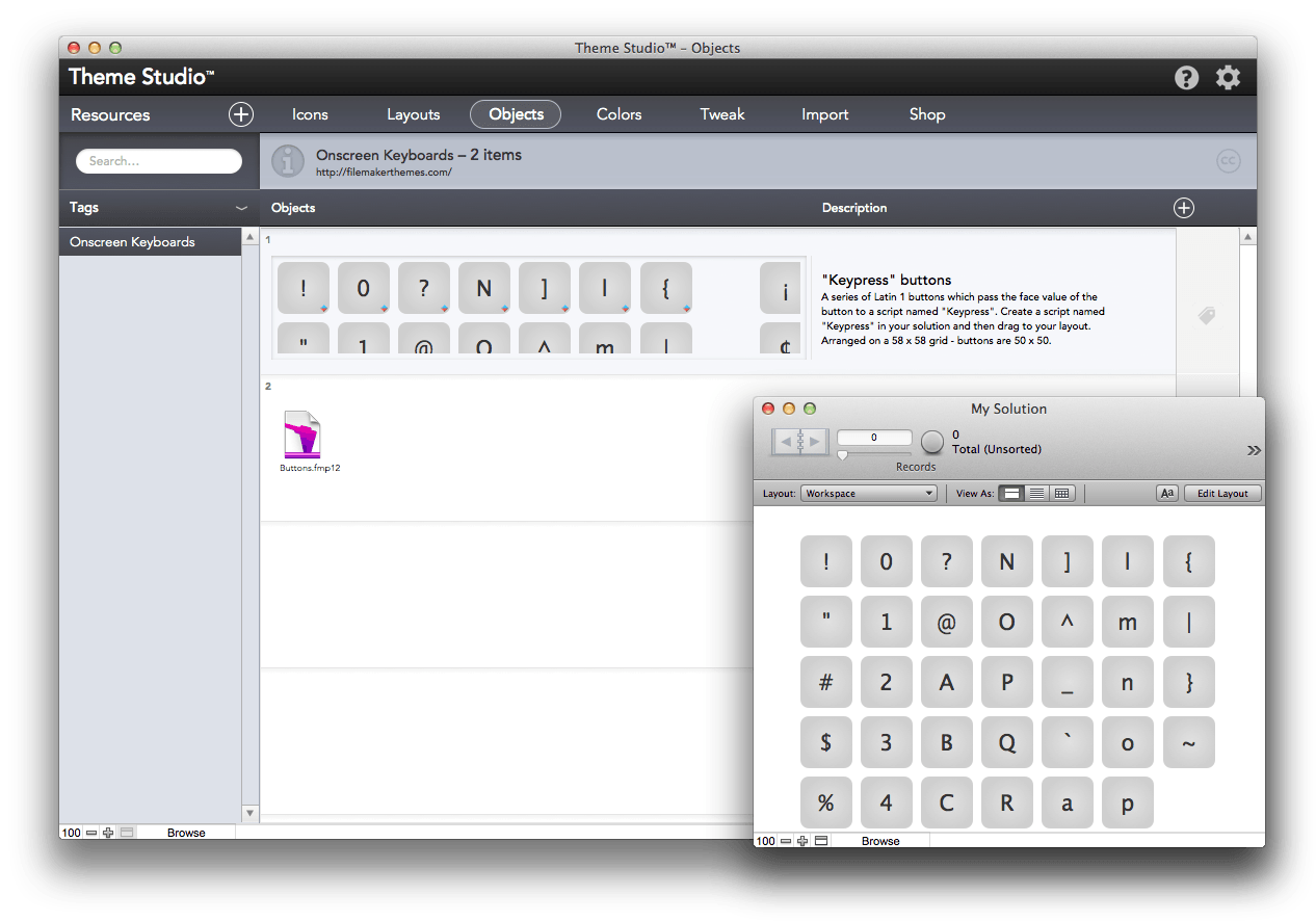 Filemaker templates theme studio version 3 for Filemaker go templates