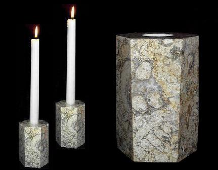 Buy traditional anniversary gifts - Coral Marble Candle Holder, Traditional 35th Anniversary Gift
