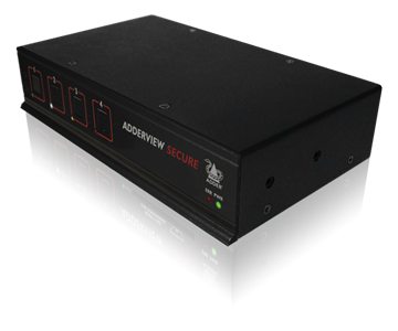 Adder AVSD1002 2 Port Secure DVI or VGA KVM Switch - Feat Uni-directional Data Paths, 60dB Crosstalk Isolation, Independent Power Block, & No Shared RAM<