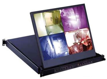 CyberView RP-119QD 19In Quad Multiviewer Rackmount Monitor