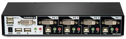 Avocent SwitchView 4 Port DVI Switch Back View