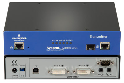 Avocent HMX5000 & HMX6000 CAT7 or Fiber Multipoint DVI Extension Solution - Single or Dual-Monitor DVI, 1080P