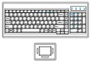 SUN Keyboard with Touchpad Mouse