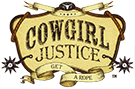 Cowgirl Justice Yee Haw V-Neck Tee Shirt - Black (Closeout)