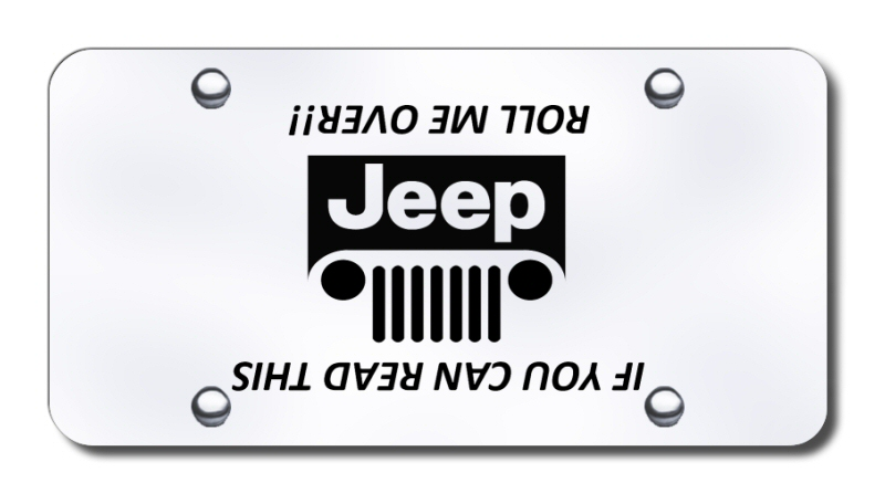 laser engraved front logo license plate