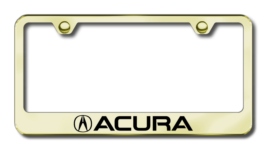 Etched License Plate Frame