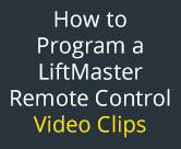 how to program a liftmaster remote controls video clips