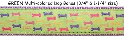 Preston GREEN Multi-colored Dog Bones