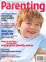 Parenting Magazine July, 2005 cover