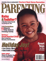 Parenting Magazine December, 2002 cover