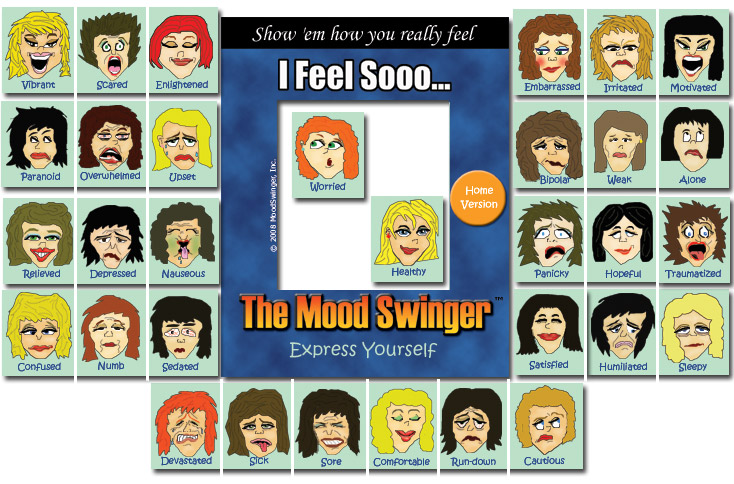funny cartoon faces. 32 funny Home Mood Magnets,
