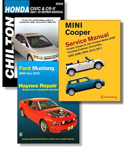 Auto repair manuals main page image