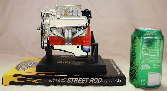 Chevy Small Block Street Rod Engine Die-Cast - Side View