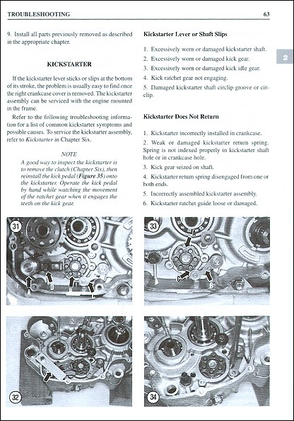 Clymer Repair Manual Troubleshooting Sample Page