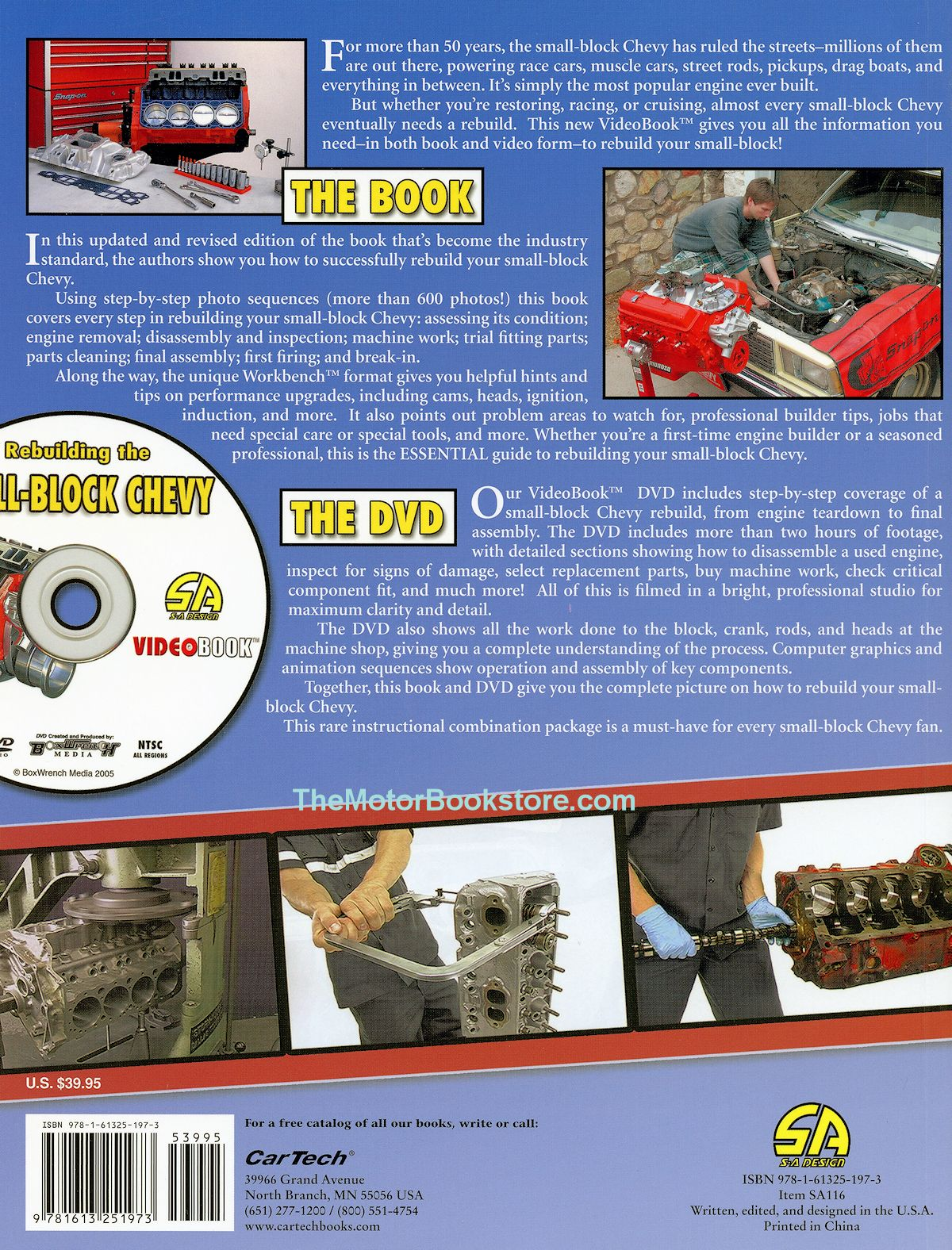Rebuilding the Small-Block Chevy VideoBook - Back Cover