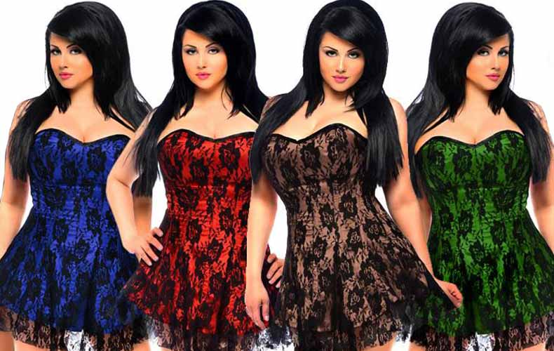 Beautiful Corsets in Different Colors