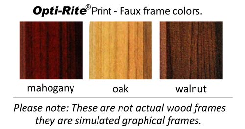 dry erase decal faux wood frame color options