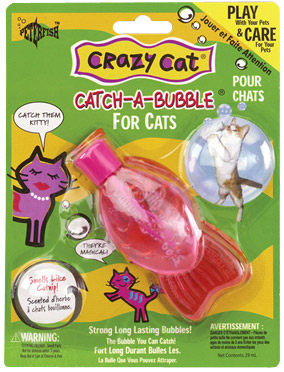 Crazy Cat Catch-A-Bubble Catnip Scented Magic Bubbles package