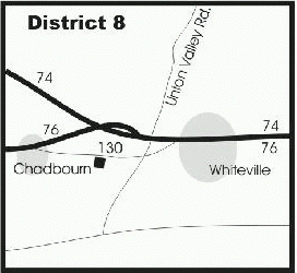 map of distribution center, D-8
