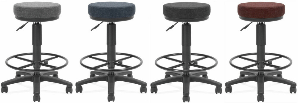 Ofm Backless Office Stool With Drafting Foot Rest 902 Dk