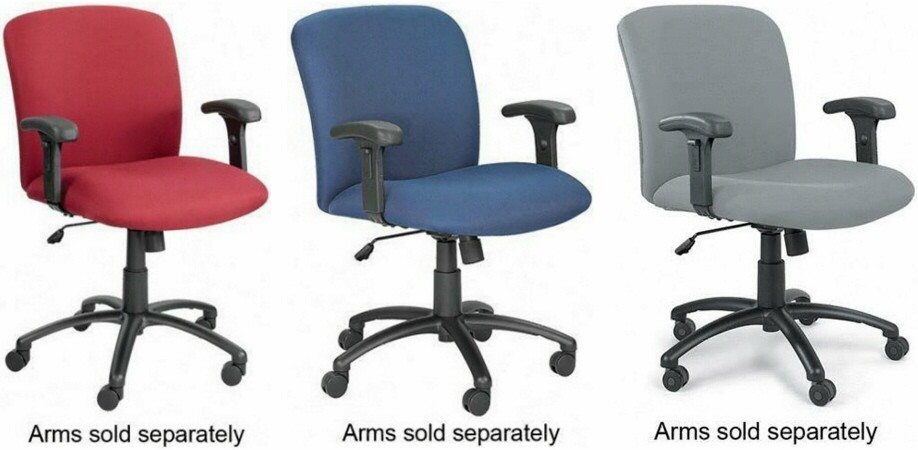 Wide Office Chairs Armless Office Desk Chairs