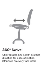 Safco 3490 Heavy Duty Office Chair Holds 500 Lbs
