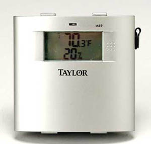Taylor 1459 Digital Wireless Remote Temperature and Humidity Sensor