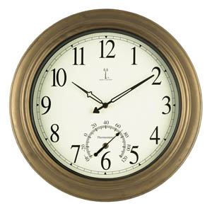 Atomix 50314 Balmoral Atomic 18-Inch Wall Clock with Thermometer