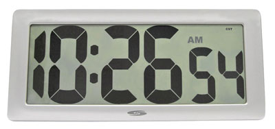 Chaney Instrument Set & Forget 75071 Oversized LCD Clock