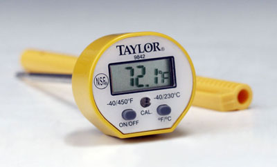 Taylor 9842 Commercial Waterproof Digital Instant Read Thermometer