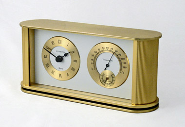 Hampton Gold Desk Clock