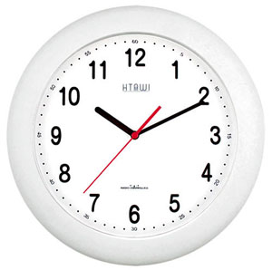 HTAWI HAA-1203W 12 Inch White Atomic Wall Clock