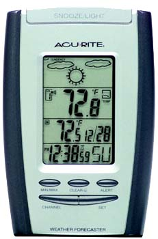 Acu-Rite� 00736 Indoor/Outdoor Wireless Thermometer with Weather Forecast  and Alarm Clock