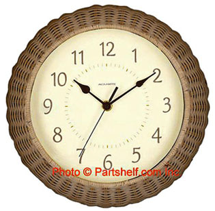 Acu-Rite 00927 The Natural 14-Inch Analog Wall Clock