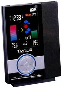 Taylor 1507 Digital Wireless Weather Station with Weather and Emergency Alert Radio and Atomic Clock